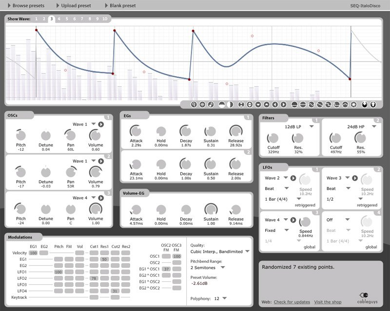 Curve Synthesizer