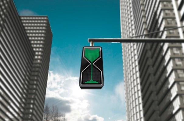 Sand Glass Traffic Light Concept