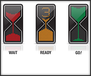 Sand Glass Traffic Light Concept