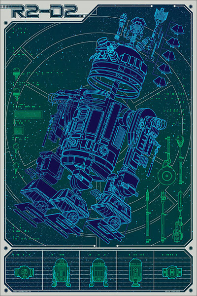 A Linch Pin Droid Poster