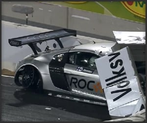 2010 Race of Champions Crash