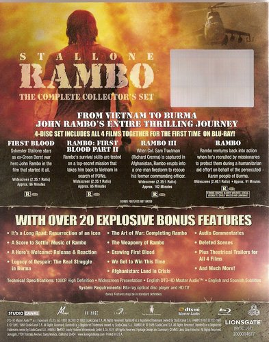 Rambo the complete collectors set