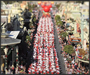 Tilt-Shift Disney Parade