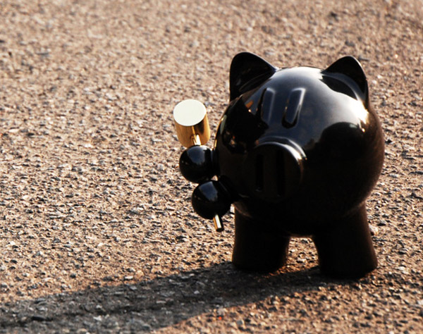 Self-Destructing Piggy Banks