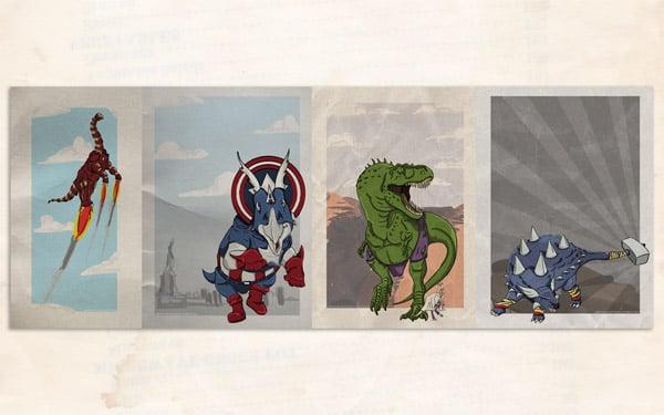 Superhero Dinosaurs