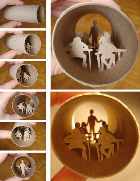 paper tube art the awesomer