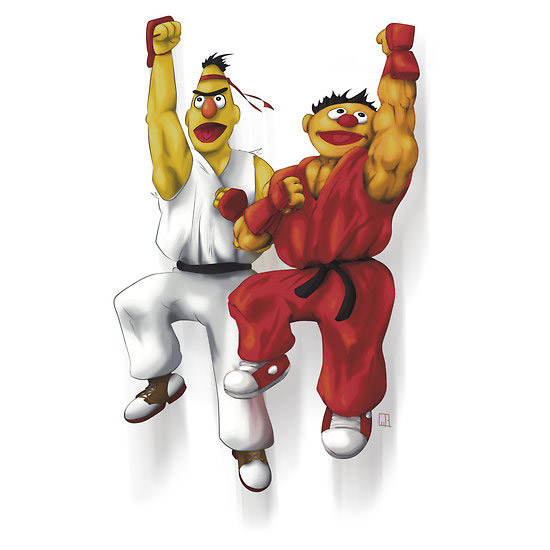 Sesame Street Fighter Stickers