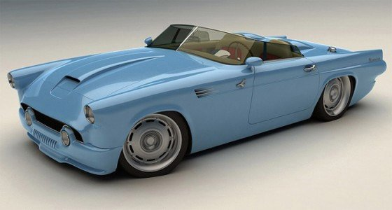 Custom 1955 Ford Thunderbird