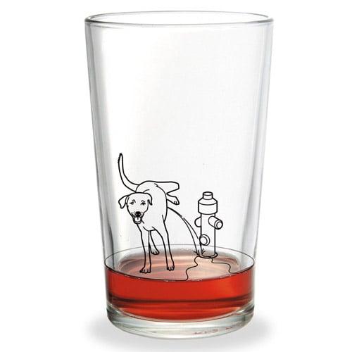 Pissiger Hund Glass