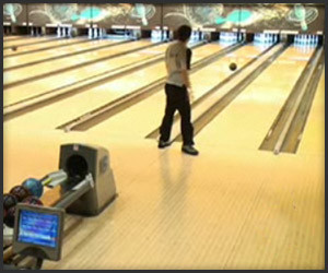 Unlikely Bowling Shot
