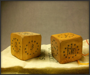 Historical Wooden Dice
