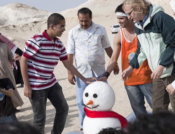 Snowman in Bahrain