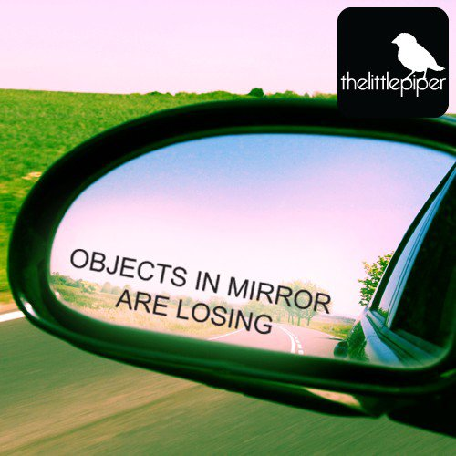 Objects in Mirror Sticker