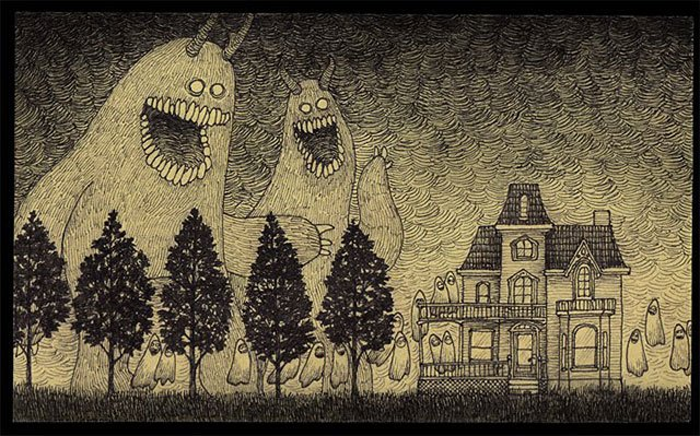 Post-It Monster Drawings
