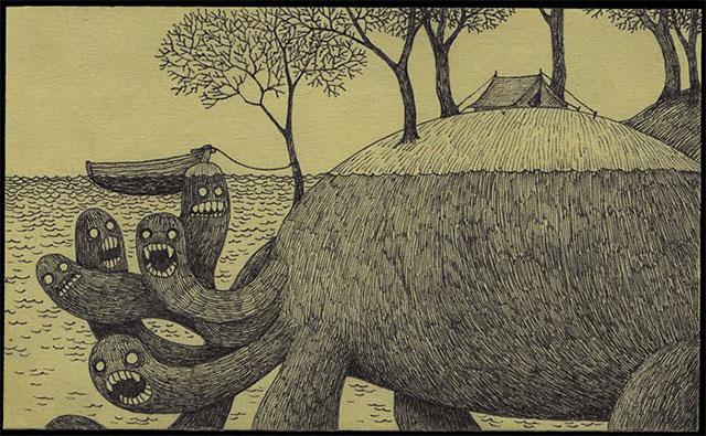 Post-It Monster Drawings