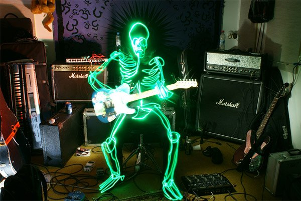 Skeleton Light Paintings
