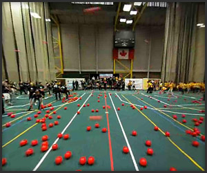 360-Degree Dodgeball Fight