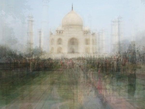 Layered Tourist Photos