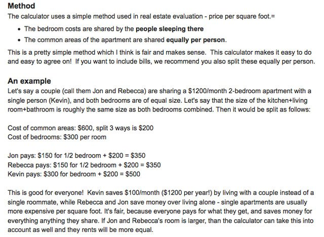 Rent Splitting Calculator