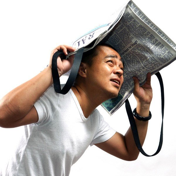 Newspaper Rain Bag