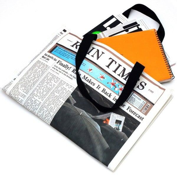 Newspaper Rain Bag