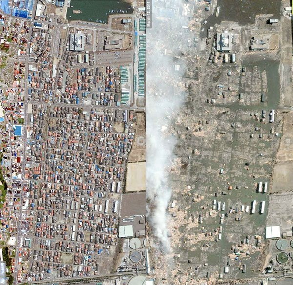 Japan Tsunami: Before & After