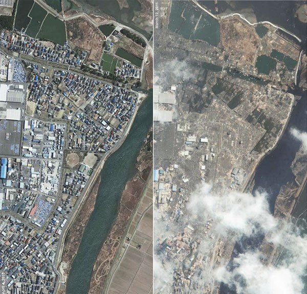 Japan Tsunami: Before & After - The Awesomer