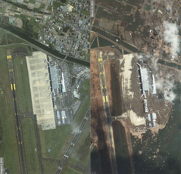 Japan Tsunami: Before & After