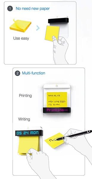 Take-it Sticky Note Printer Concept