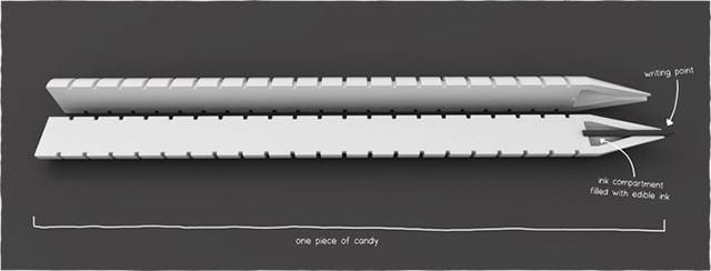 Edible Pen Concept