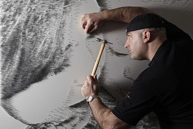 Marcus Levine's Nail Sculptures
