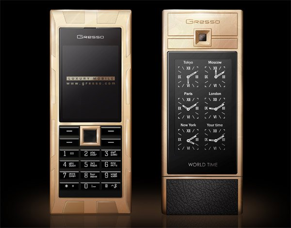 Luxor World Time Gold Phone