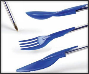 Dine Ink Pen Cap Utensils