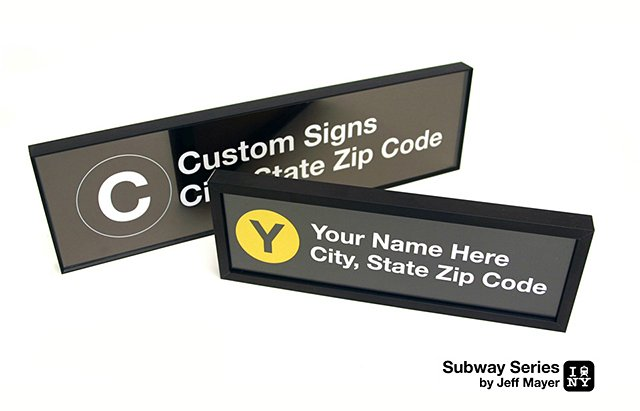 Custom Subway Stop Signs