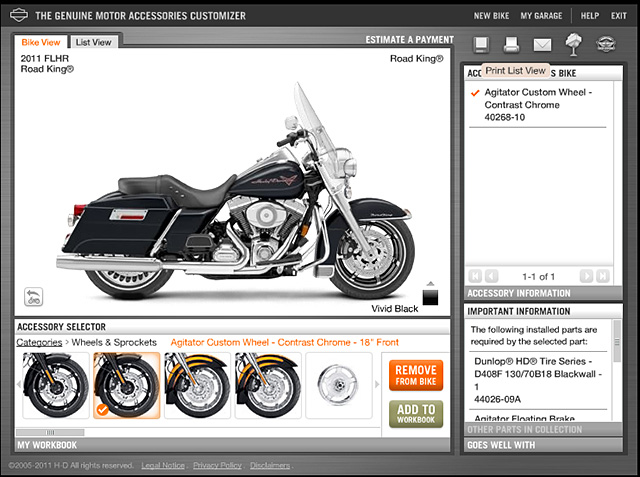 Harley Davidson Bike Builder