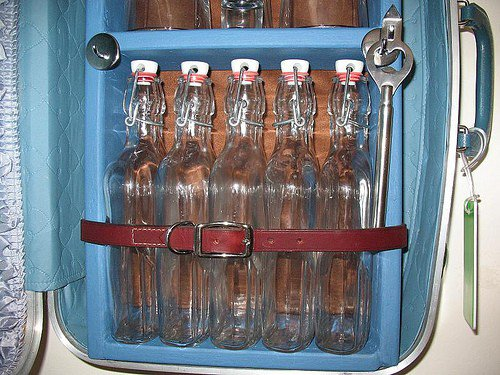 Suitcase Liquor Cabinet