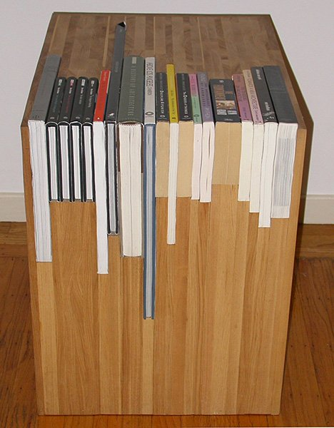 Custom Stacked Book Side Table