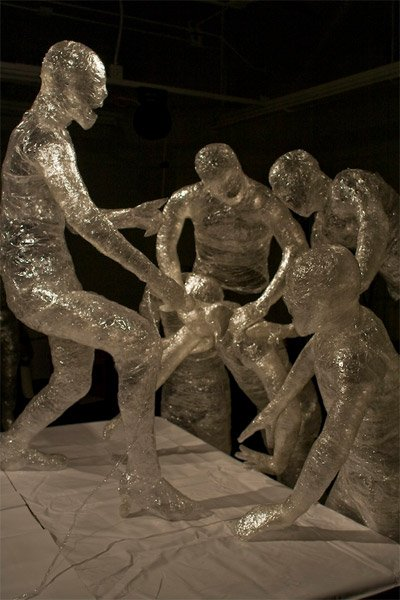 Scotch Tape Sculptures
