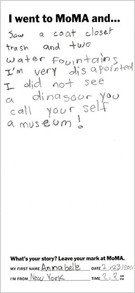 I went to MoMA and…