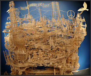 Toothpick Kinetic Sculpture