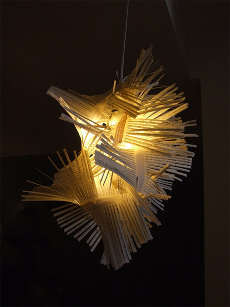 Recycled Paper Lampshades