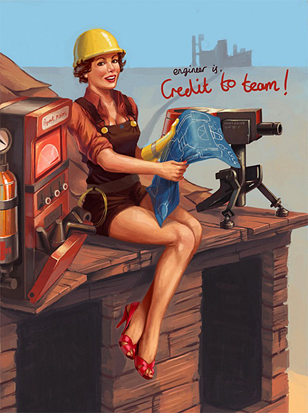 Team Fortress 2 Pin-ups