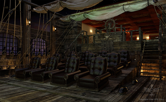 Pirate-Themed Home Theater
