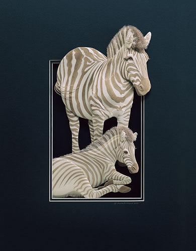 Calvin Nicholls' Paper Sculptures