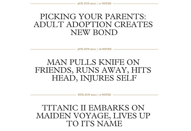 Onion-like Headlines