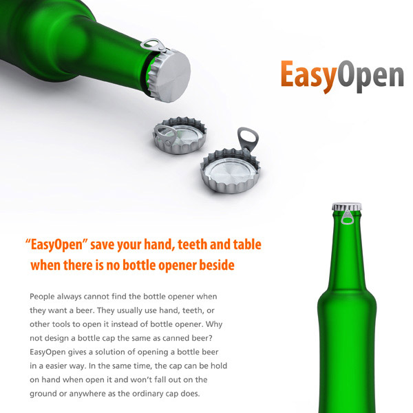 EasyOpen Bottle Caps