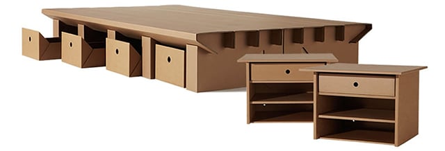 karton cardboard furniture pop out cardboard office furniture