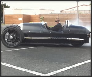 Morgan 3-Wheeler Burnout