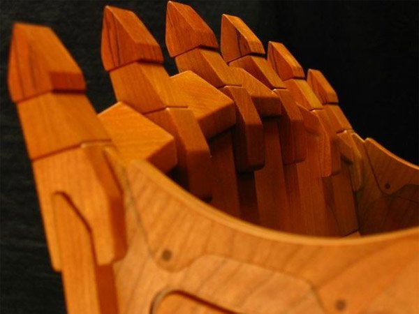Wooden Caterpillar