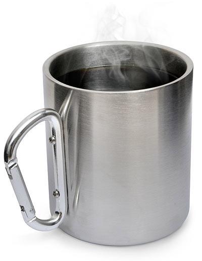 Stainless Carabiner Mug